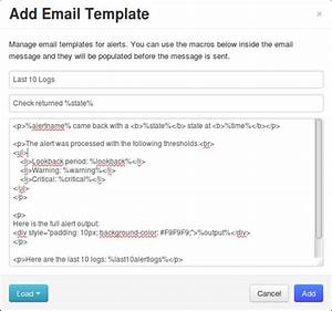 nagios log server custom alert message email template With nagios email template