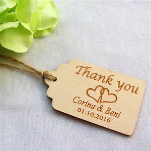 50pcs personalized engraved thank you wedding tags wooden With monogram tags for wedding favors