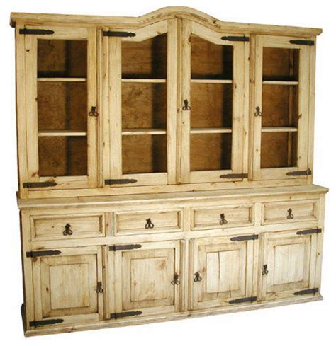 pine hutches monterrey large rustic pine cupboard china cabinets and