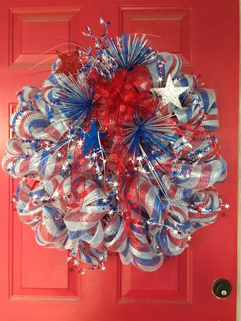 4th of july wreath 60 amazing 4th july wreaths for your front door digsdigs