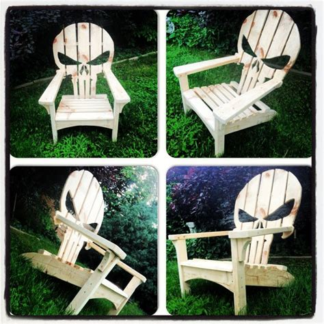 skull adirondack chair plans punisher skull adirondack muskoka chair adirondack