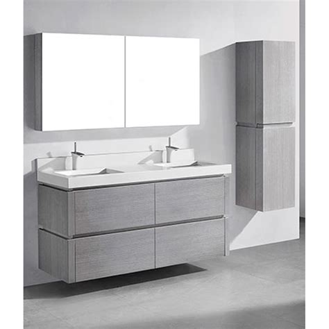 wall mounted medicine cabinet no mirror madeli cube 60 quot wall mounted bathroom vanity for