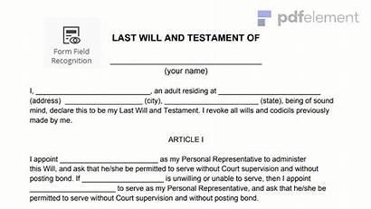 Testament Last Sample Template India Format Form