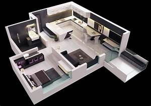 25 one bedroom house apartment plans With 1 bedroom flat house plan