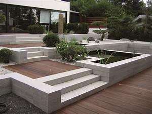 blockstufen aus granit granitpflaster With feuerstelle garten mit wpc fliesen verlegen balkon
