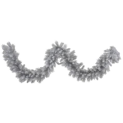 artificial silver white pine garland vck4394