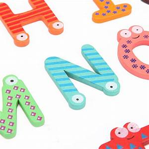 26 lot kid baby wooden fridge magnet letters alphabet With baby safe magnetic letters