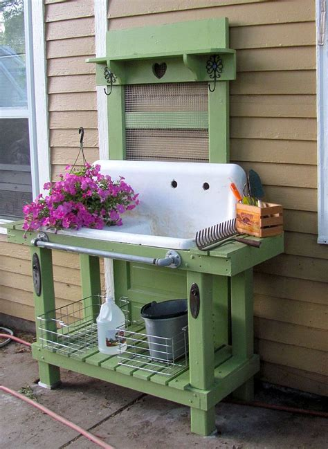 potting bench with sink pretty potting tables for sprucing your home