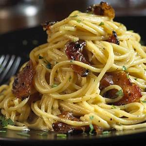 Spaghetti Carbonara with Pepper-Coated Bacon | Nueske's
