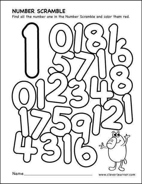 number scramble activity worksheets  preschool parents