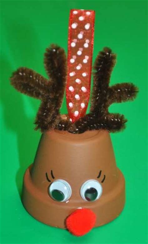make a flower pot reindeer bell ornament 187 dollar store crafts