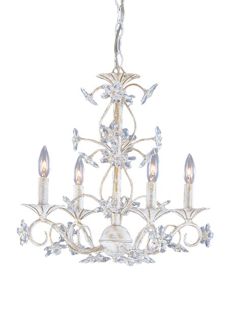 antique white wrought iron chandelier with polished