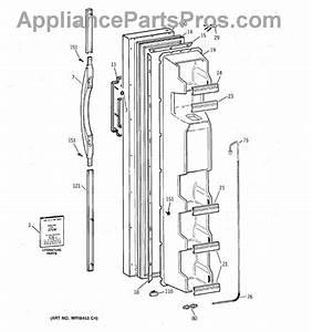 Parts For Ge Tfx22jrbaaa  Freezer Door Parts