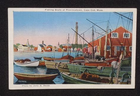 Boats For Sale Provincetown Ma by 1940s Fishing Boats Provincetown Ma Barnstable Co Postcard
