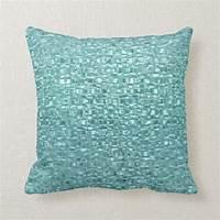 turquoise throw pillow Turquoise Glass Throw Pillow | Zazzle