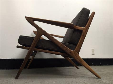 mid century walnut z chair west coast modern la