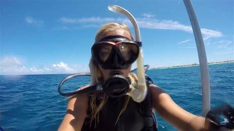 truli wetsuits  women scuba dives  grand turk turks