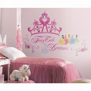 New disney princess crown giant wall decals girls stickers