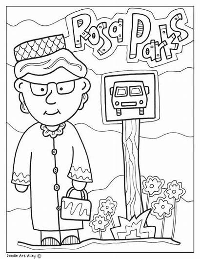 Coloring History Month Parks Rosa Printable Printables