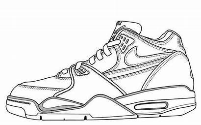 Nike Coloring Shoes Drawing Sketch Max Air