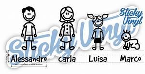 Adesivi Famiglia Adesiva a 1 50 € Family Stickers Car