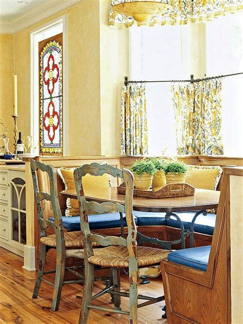 This Breakfast Nook Captures The Comfortable Faded Patina
