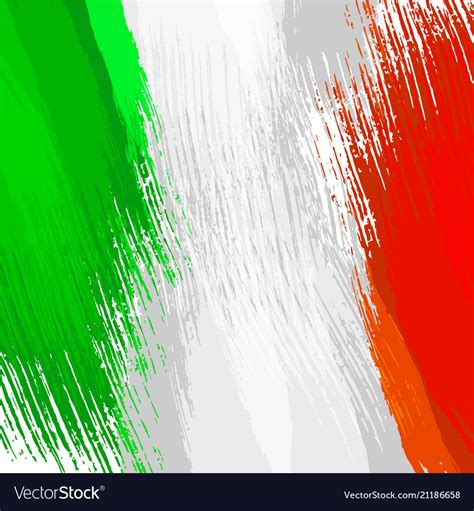 colors of the italian flag grunge background in colors of italian flag vector image