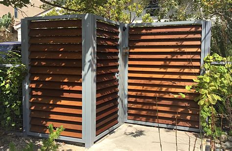 Custom Aluminum + Ipe Modern Metal Gate By Szk Metals