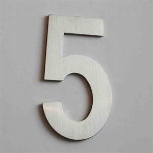 Numéro Maison Design : plaque num ro de maison 7 5 cm inox bross 4mepro ~ Premium-room.com Idées de Décoration