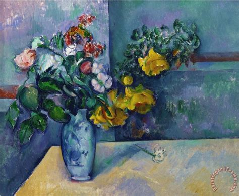 Paul Cezanne Still Life Flowers In A Vase Painting