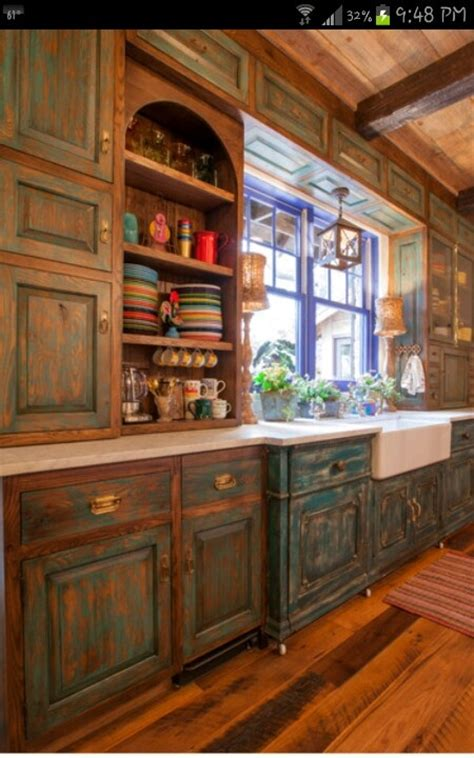 distressed teal kitchen cabinets distressed turquoise kitchen cabinets quicua