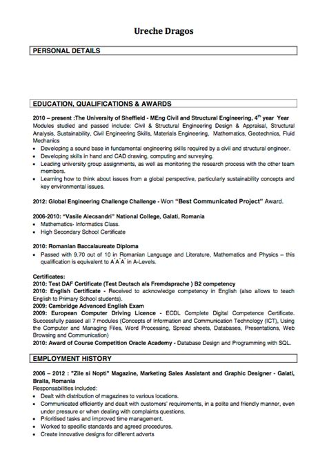 doc 12751650 how to write a cv returning to work