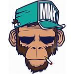 Dope Monkey Graffiti Clipart Vector Drawing Acid