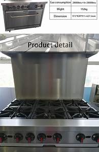 High Power 6 Burner Gas Range With Gas Oven Gas Stove Gas
