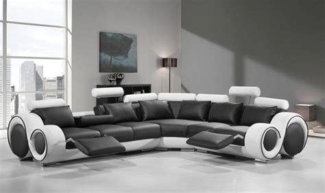 Sofa Order by Black White Bonded Leather Sectional Sofa Special Order