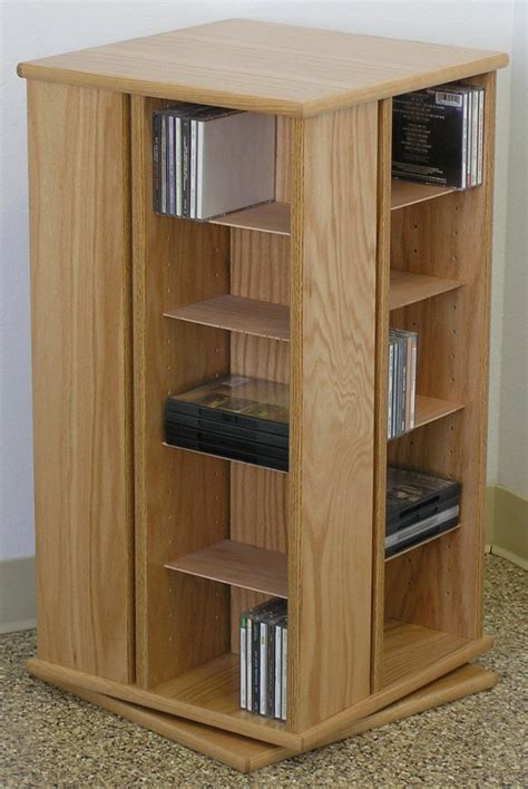 "Swivel Dvd Storage Cabinet 30""high Oak, Maple Made In Usa"