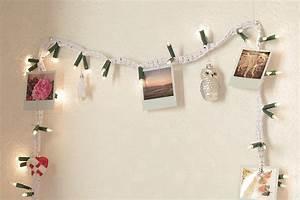 Decoration Lumineuse Murale : une guirlande lumineuse crochet polaroids apodioxe ~ Teatrodelosmanantiales.com Idées de Décoration