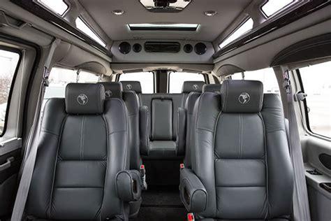 gmc savana conversion van interior black aspen limousine