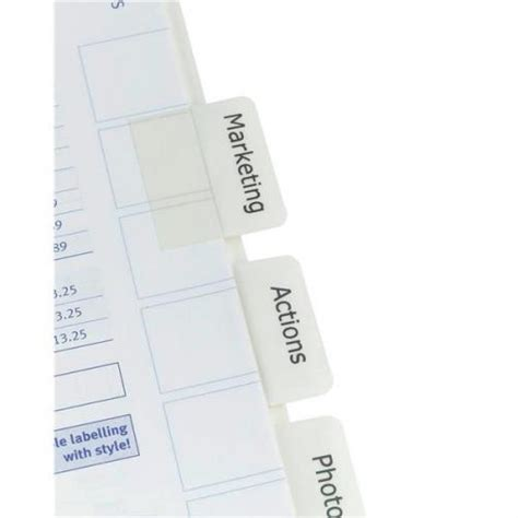 avery indexmaker a4 punched dividers 5 part 01810061 uk