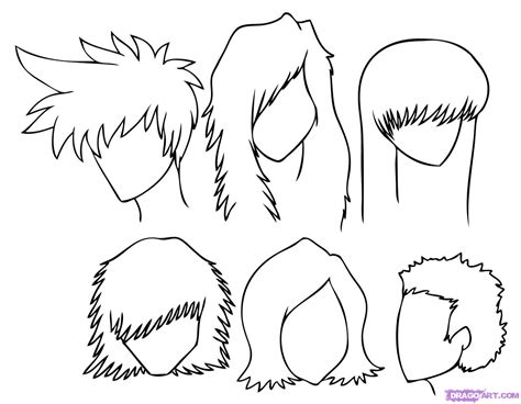 animated hair styles how to draw hair step by step anime hair anime 8468