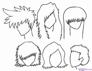 Draw Manga Hair Step By Step Drawing Sheets Added By