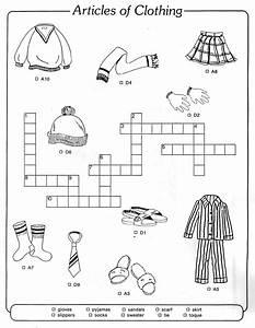 Crossword To Practice  Clothes