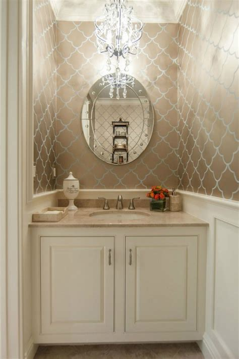 bathroom wallpaper ideas 28 powder room ideas decoholic Half