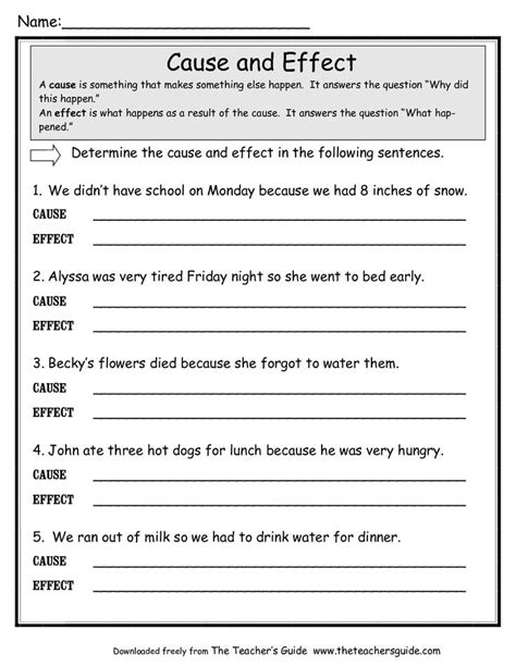 effect worksheets google search