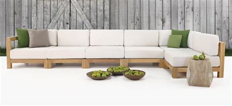 ibiza outdoor sectional sofa  grade teak furniture