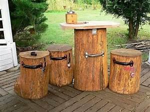Creative Rustic Ideas with Wood Logs DIY Motive