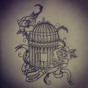 Open Birdcage Tattoo Sketch | www.imgkid.com - The Image ...