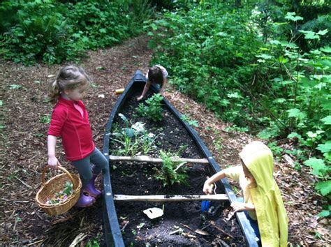 into the woods outdoor and nature based preschools in 469 | canoe play
