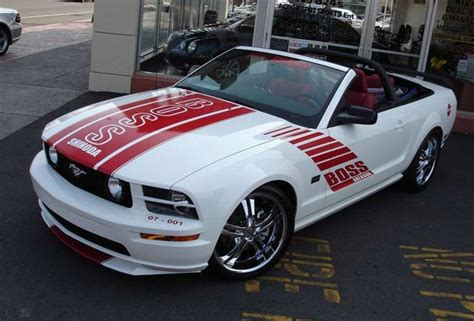 performance white  boss shinoda ford mustang