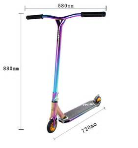 neo chrome odm cheap adult pro scooter rainbow stunt